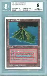 MTG Volcanic Island Summer Magic BGS 9 (only one w all subs 9+ 0.5 from 9.5)