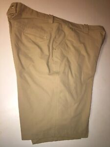 Mens Under Armour Flat Front Stretch Golf Shorts Size 38 Tan Beige Nice!