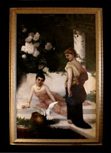 VICTORIAN PAINTING WOMEN COCKATOO DECORATIVE FINELY DETIAL SGN. DATED 19th C. $1500.00
