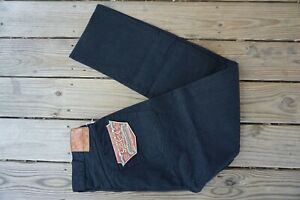 SUGAR CANE NWT MADE IN JAPAN ONE-WASH BLACK SELVAGE DENIM JEANS  36X34