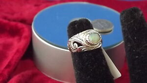 Size 6 Bali Legacy Collection Ethiopian Welo Opa Ring in .925 Sterling Silver