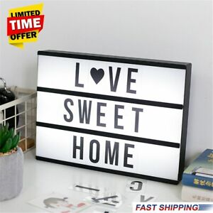 141 Letters A4 Cinematic Cinema Light Up Letter Sign Box Light Box Wedding Party