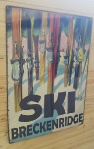 Vintage Ski customizable heavy duty steel sign mountain home decor