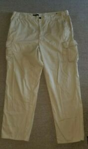 Orvis 100% Cotton Mens Cargo Hunting Fishing Pants 38x 31 Pockets Khaki Outdoors