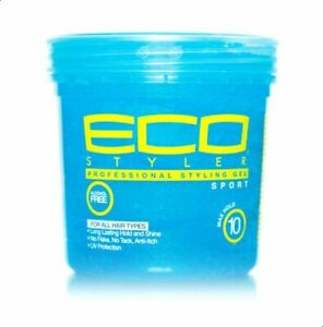 Eco Professional Styling Gel Sport Strong Hold Shine Anti-Itch 8 fl.oz - Blue