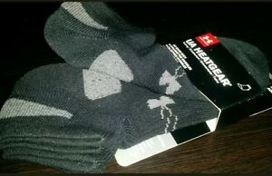 3 PAIR UNDER ARMOUR HEATGEAR YLG NO-SHOW BOY'S SOCKS 3
