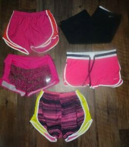 Womens NIKE DRI FIT shorts lot 5 pairs size SMALL Running Tempo
