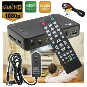 Mini Full 1080P HD Multi Media Player TV BOX 3 Outputs HDMIVGAAV USB