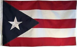 3x5 Embroidered Sewn Puerto Rico Rican Double Sided Nylon Flag Embroidered Star