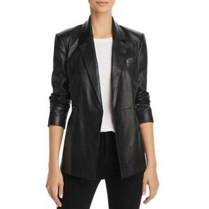 Theory Womens Bristol Black Winter Leather Leather Jacket Outerwear 10 BHFO 7667