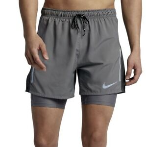 "NIKE FLEX DISTANCE MENS 5"" 2 In 1 RUNNING SHORTS BRAND NEW WITH TAGS 2XL"