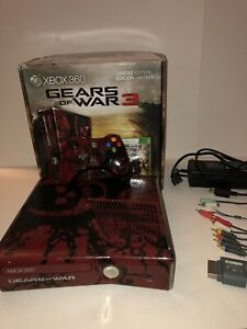 Xbox 360 S Gears of War 3 Limited Edition 320GB Console with Controller and Box