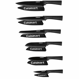 Cuisinart C55 12PMB 12 Piece 6 Knife Set with 6 Blade Guards Black