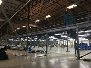 27300 SF Steel Mezzanine wCargo Elevator and Two Staircases