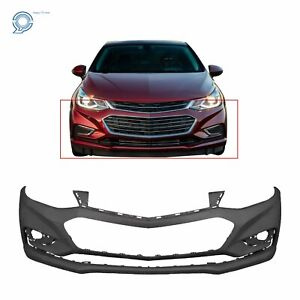 Primered Front Bumper Cover for 2016 2018 Chevy Cruze w o Park Assist 16 18