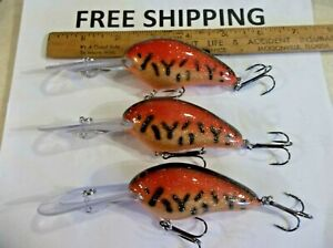 Lot of 3 Norman Fishing Lures DD22 11-17 Ft New Crankbaits GREAT COLOR TACKLE *
