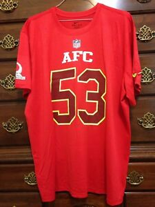NFL 2017 Maurkice Pouncey AFC Game Issued Pro Bowl Practice Dri-Fit Shirt - RARE