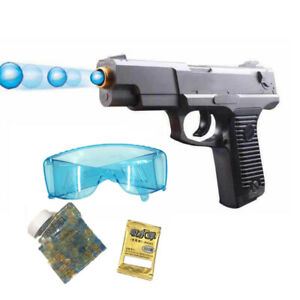 Manual Toy Gun Water Crystal Soft Bullet Pistol for Kids Gift Magazine Feed