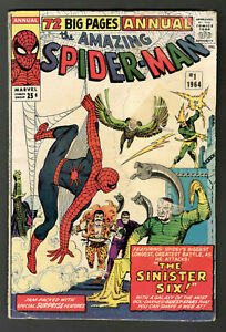 The Amazing Spider-Man Annual #1 1st Appearance of Sinister Six Marvel 1964 VG