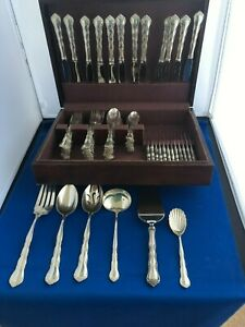 S.KIRK CHERYL STERLING SILVER 78 PC.COMPLETE SERVICE  FOR 12