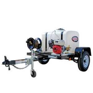 SIMPSON 95000 Trailer 3200 PSI 2.8 GPM Mobile Washing System New
