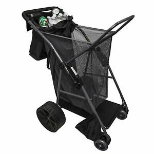 Folding Utility Beach Cart Collapsible Folding Outdoor Utility Wagon Carriage US