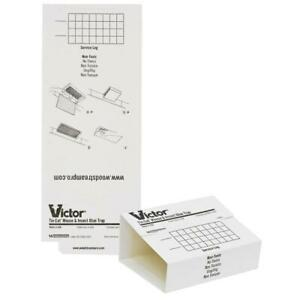Victor Tin Cat Mouse Trap Glue boards (72 Glueboards) Mice Insects M309
