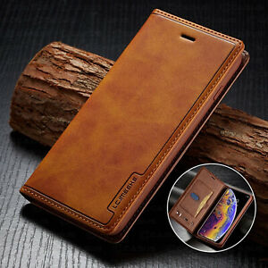 Leather Wallet Magnetic Flip Cover Sim Card Case For iPhone XS MAX XR 876 Plus