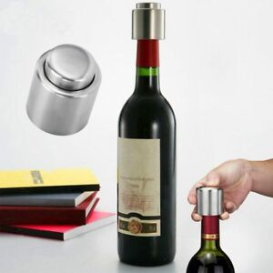 Stainless Steel Bottle Stopper Sealer Caps Red Champagne Vacuum Fashion Sealed