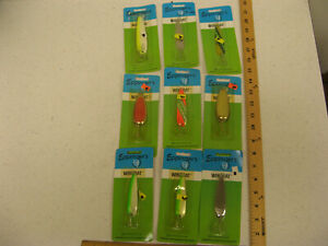 (9) Eppinger Wingbat Spoon Lure Dardevle Lot FISHING LURE BULK COLLECTION NEW