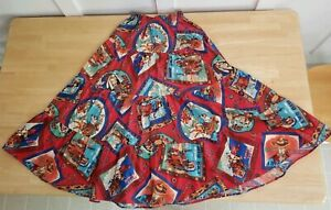 Native American Indian Western cowboy  A line skirt size small vintage rare