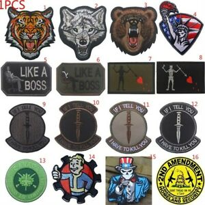 Army Military Embroidery hook patches morale patch Tactical badges armbands