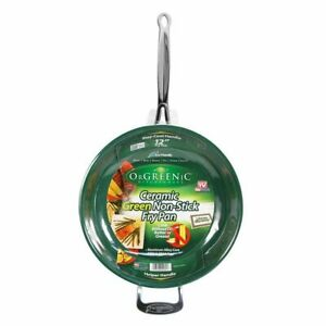 Orgreenic 12 In Frying Pan Ceramic Cookware - Cook Delicious Healthy Recipes The
