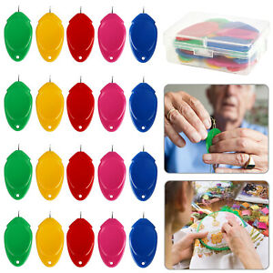 20Pcs Hand Sewing Needle Threader DIY Simple Craft Device Threading Guide Tools $6.48