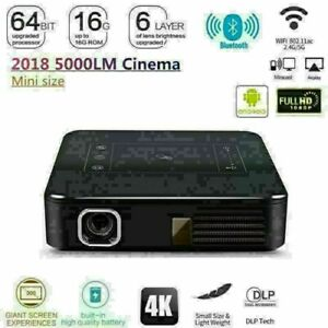 2019 HD 4K DLP HD Home Theater Projector Wifi 1080P Mini Android Cinema 2G+16G