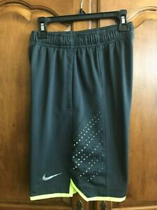 Nike Dri Fit Youth Shorts Size Small 9 10 Charcoal Grey $13.00