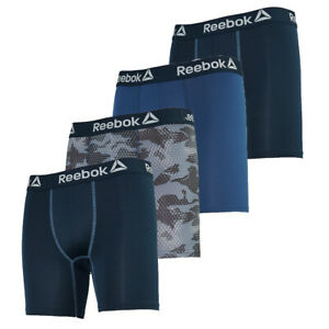 Reebok Men's Performance Boxer Briefs 4-Pack