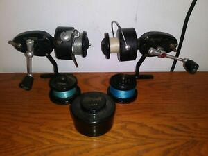 Lot of 2 Vintage Garcia Mitchell 300 amp; 301C Spinning Reels with Mepps lures.