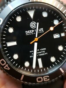 NEW DEEP BLUE MASTER 1000300FT AUTOMATIC ALLBLACKPVDBLK.(free gift)