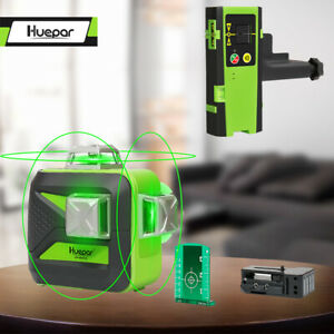 Huepar 603CG 3*360 Cross Line Laser Level Green Self Leveling 130FT 40MReceiver