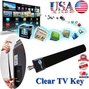 USA Clear TV Key HDTV FREE TV Digital Indoor Antenna Ditch Cable As Seen on TV