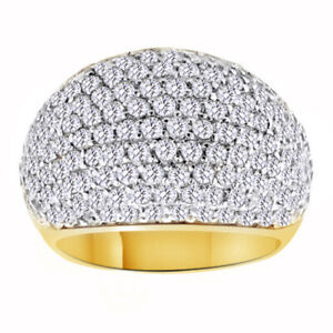 Christmas Special Simulated Diamond Dome Anniversary Ring 18K Yellow Gold Plated