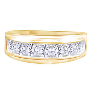Christmas Special Diamond Wedding Band Ring 18K Yellow Gold Plated 0.75 Cttw