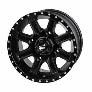 4110 Tusk Cascade Wheel 12x7 5.0 + 2.0 Matte Black - Fits: Polaris OUTLAW 500