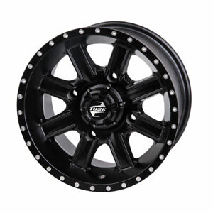 4137 Tusk Cascade Wheel 12x7 5.0 + 2.0 Matte Black - Fits: Can-Am Renegade 500