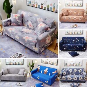 1 2 3 4 Seater Elastic Slipcovers Sofa Case Non slip Protector Soft Couch Cover