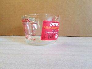 Pyrex Corning Ware 532-N Measuring 4 Cup 32 Oz Glass Clear Red (USA Made)