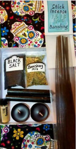 Banishing Spell Kit with Candles Herbs Incense Wicca FREE Shipping