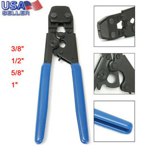 PEX Cinch Crimp Crimper Crimping Tool For SS Hose Clamps Sizes From 38'' To 1''