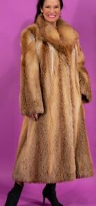 SALE Red Fox Real Fur Jacket Stroller Coat Ex Condition Size Small